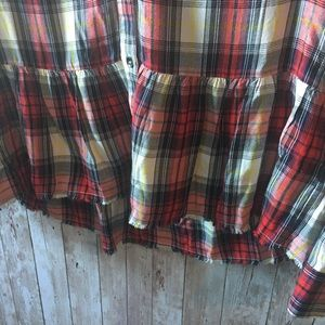 Splendid Tops - Splendid Plaid Ruffle Hem Blouse
